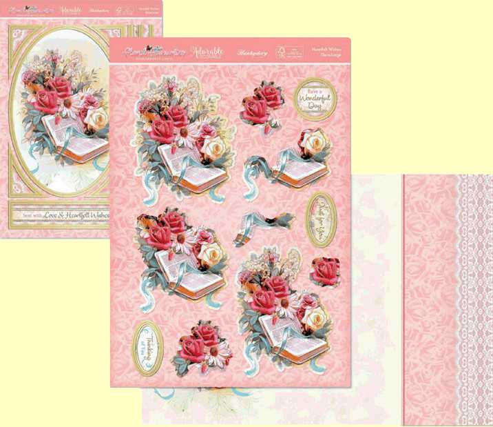 Hunkydory Heartfelt Wishes  FFDEC902. Card Making Kit