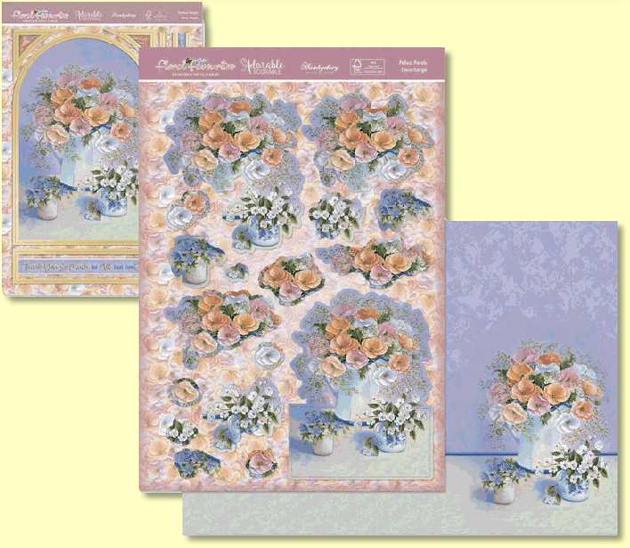 Hunkydory - Floral Favourites Designer Deco-Large - Perfect Petals  FFDEC912 - Topper Set for Card Making