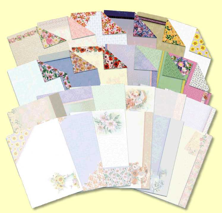 Floral Favourites Luxury Card Inserts & Papers - For enhancing Greetings Cards