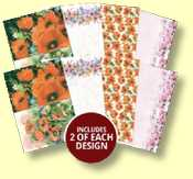 Poppy Wishes Printed Parchment Collection - 8 Sheets of 135gms Parchment