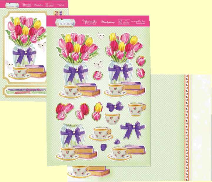 Flourishing Florals Collection Arranged for You FLODEC902.  Three Sheet Topper Set
