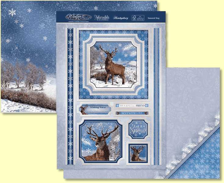 Hunkydory Christmas 2020 Winter Wishes - Seasonal Stag SNOWY20-907