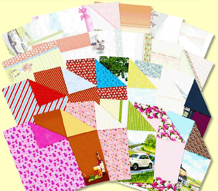 Hsppiness is... Inserts & Paper Pack for enhancing home made greetings cards