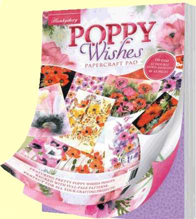 Hunkydory Poppy Wishes A5 Paper Pad PWISH103
