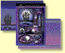 Hunkydory Twilight Kingdom - Fairytale Castle, Three SHeet Topper Set
