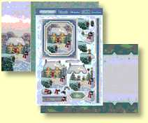 Christmas Cottage Three Sheet Topper Set