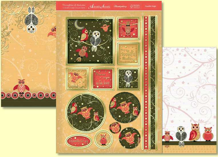 Hootful Night is a three page topper set from Hunkydory Crafts