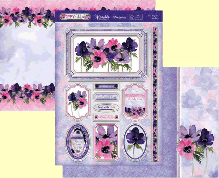 Hunkydory Poppy Wishes Collection You Brighten My Day PWISH907