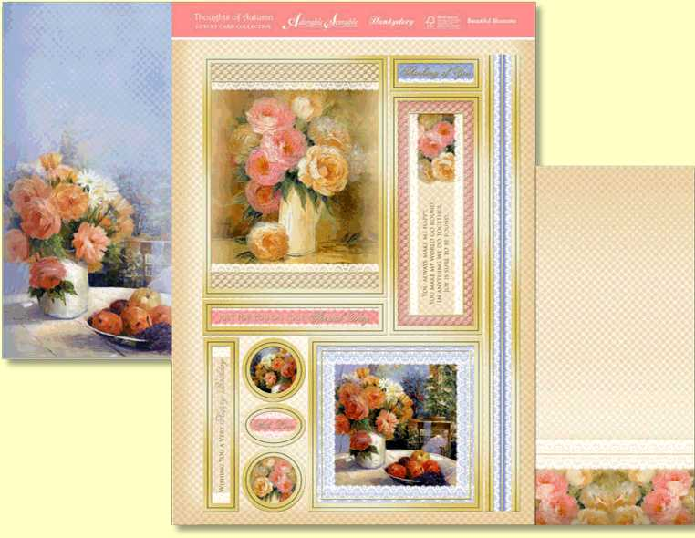 Beautiful Blossoms is a three sheet topper set from the Hunkydory Thoughts of Autumn collection
