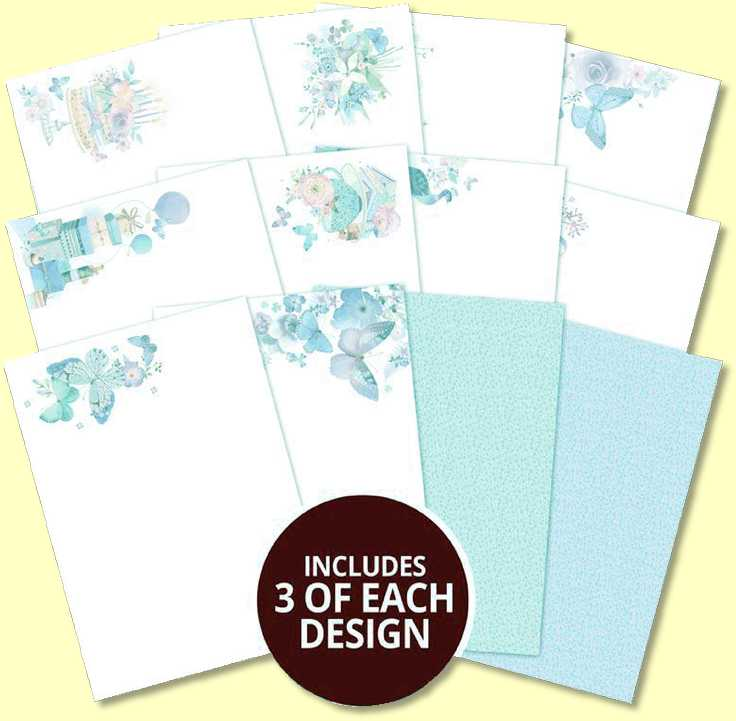 Butterfly Blue Inserts for Cards