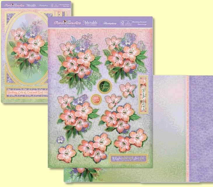 Floral Favourites Designer Deco-Large - Blooming Bouquet topper set for card making